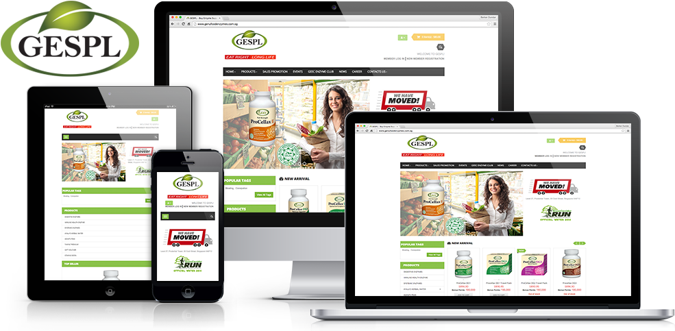 Genufood Enzymes Responsive Website